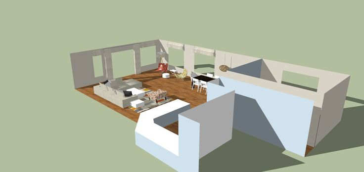 SketchUp Lounge and Dining areas