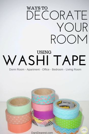 183 best images about student room ideas on pinterest for What can you do with washi tape