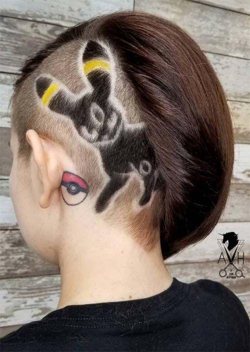 f49fe023c 54 Badass Undercut Hair Tattoos for Women in Love with Hair Art ...