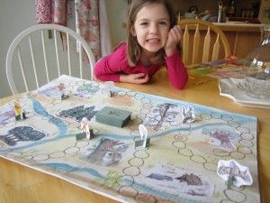 Make a board game with your children based on a book that you are reading with them #homeschool
