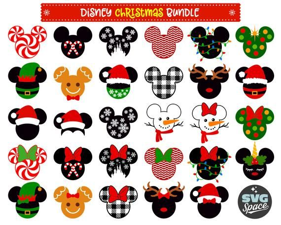 Christmas Disney Svg Christmas Bundle Svg Mickey Minnie Mouse Svg Digital Instant Download File Disney Christmas Decorations Disney Scrapbook Disney Christmas