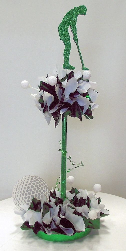 22 best images about diy golf themed centerpieces party for Golf centerpiece ideas