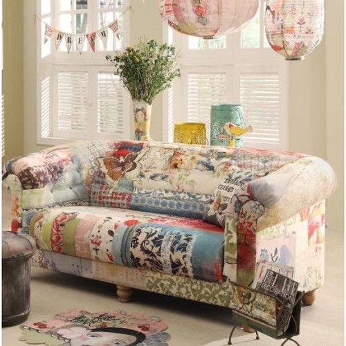 Cosynest Interiors Nurture Daydream Patchwork Canvas Sofa