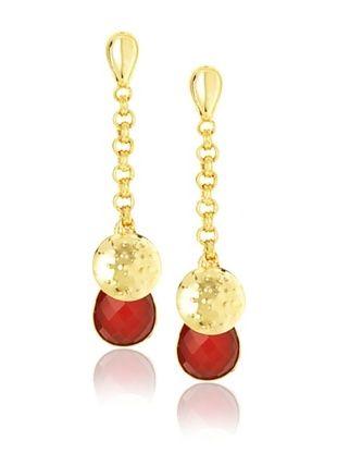 Saachi 18K Gold-Plated Carnelian Earrings