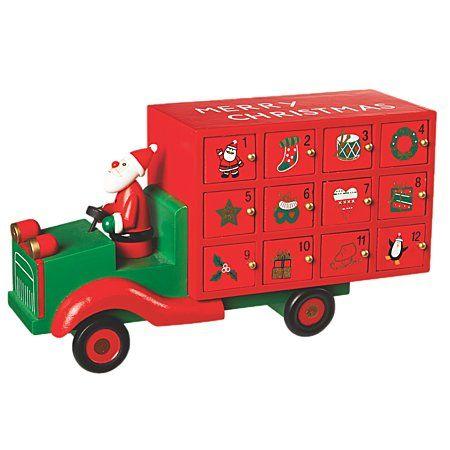 Christmas Classics Wooden Advent Truck - Ornaments ...
