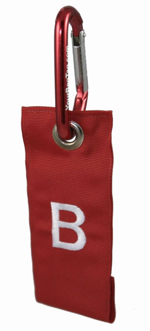 Carabiner Luggage Tags.  Great for backpacks, book bags, beach bags, etc.