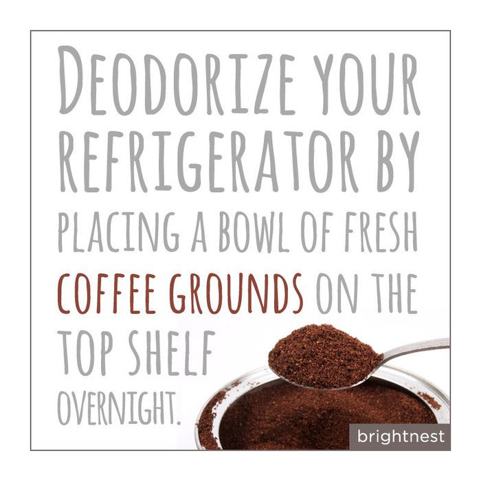 Awesome tip! Deodorize your refrigerator with coffee grounds. #Tips