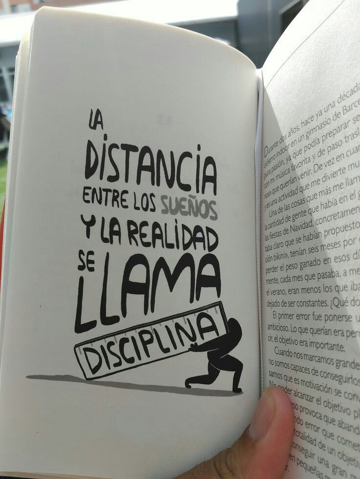 Disciplina es la técnica que te lleva a la meta #talent #librossuperacion #autoayudafrases