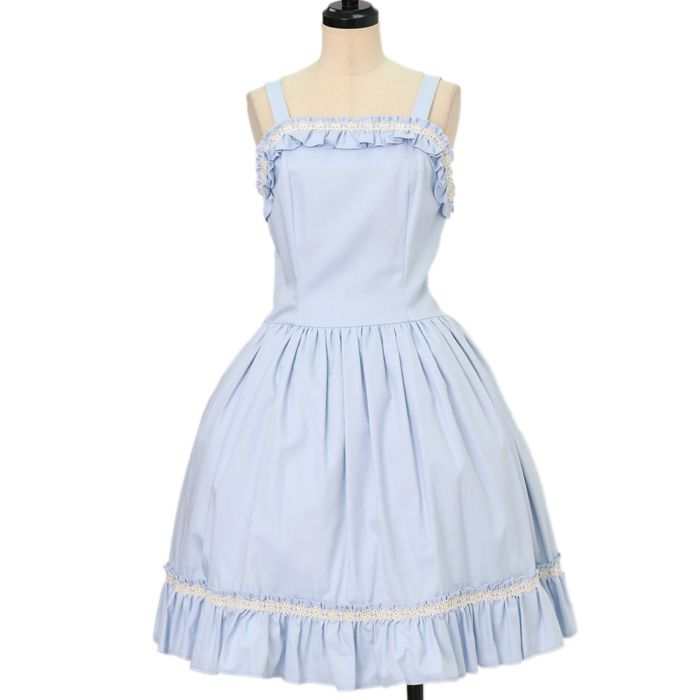 Worldwide shipping available ♪ Lolita Fashion ☆ ·. . · ° ☆ Frill jumper skirt https://www.wunderwelt.jp/en/products/w-16362  IOS application ☆ Alice Holic ☆ release Japanese: https://aliceholic.com/ English: http://en.aliceholic.com/