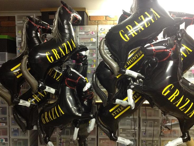 Custom printed Grazia pony balloons!