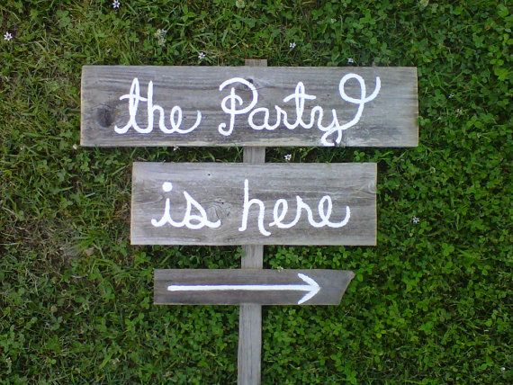 Handmade party signs.