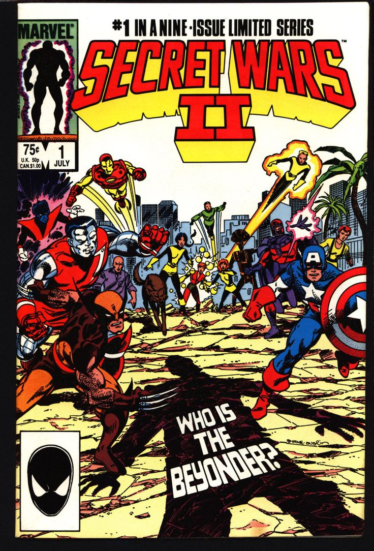 SECRET WARS II 2 #1 Jim Shooter Al Milgrom Molecule Man; Volcana; New Mutants; X-Men; Magneto; Iron Man