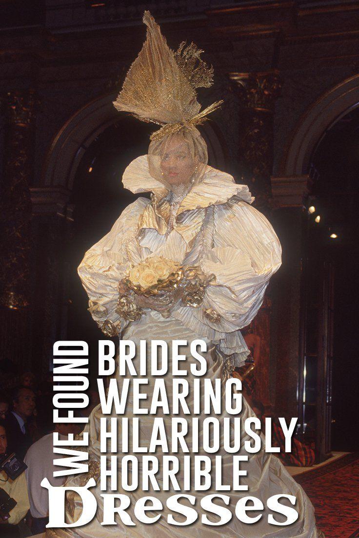 77 besten Really Ugly Wedding Dresses Bilder auf Pinterest | 3d mode ...