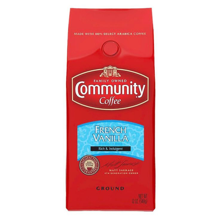 Community Coffee French Vanilla Medium Dark Roast Ground Coffee - 12oz