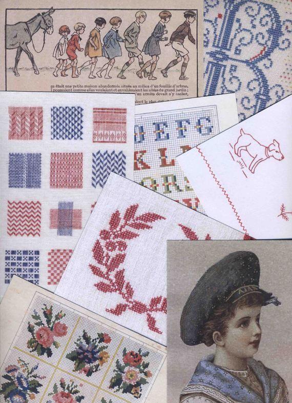 Cartes Postales RETRO. Design & Broderie par Ronit Barkay
