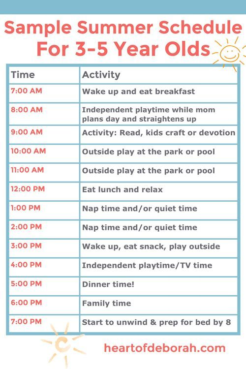 Example Of A Summer Schedule For Kids That Will Inspire