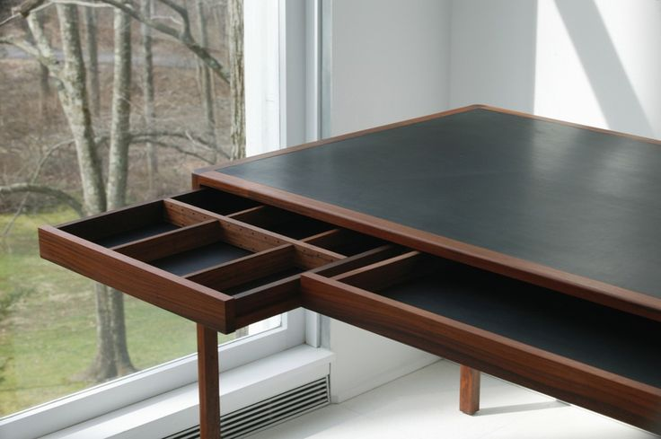 CB-311- Leather Desk by Bassam Felows