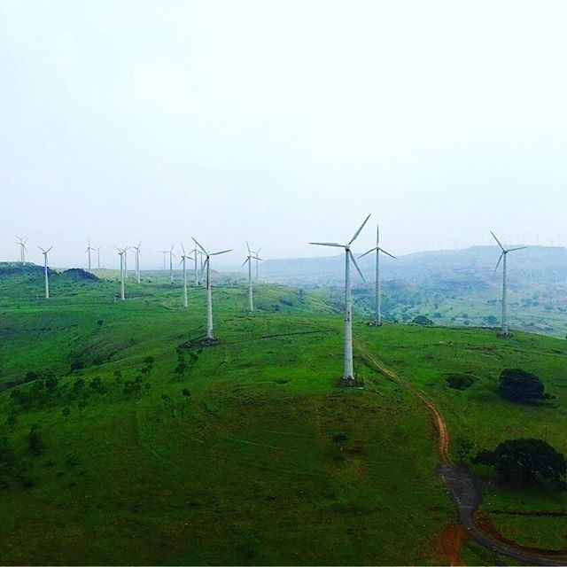 The breathtaking view of the Satara windfarms, which is a very small place located near Mahabaleshwar and offers great environmental and landscape conditions to the wind turbine industry to florish #windmill #windfarm #windturbine #landscape #india #hills #landscapelovers #nature #popularphotography #aerialphotography #aerialpic #photographylover #natgeo #shutterbug #betterphotography #practicalphotography #outdoorphotographer #outdoorphotography #digitalphotographer…