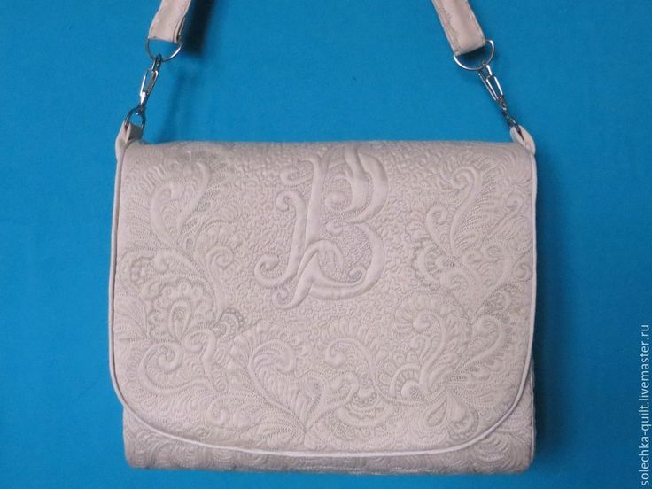 """Купить Авторская сумка с монограммой """"Маркиза"""" - бежевый, орнамент, сумка для прогулок, Стеганая сумка"""