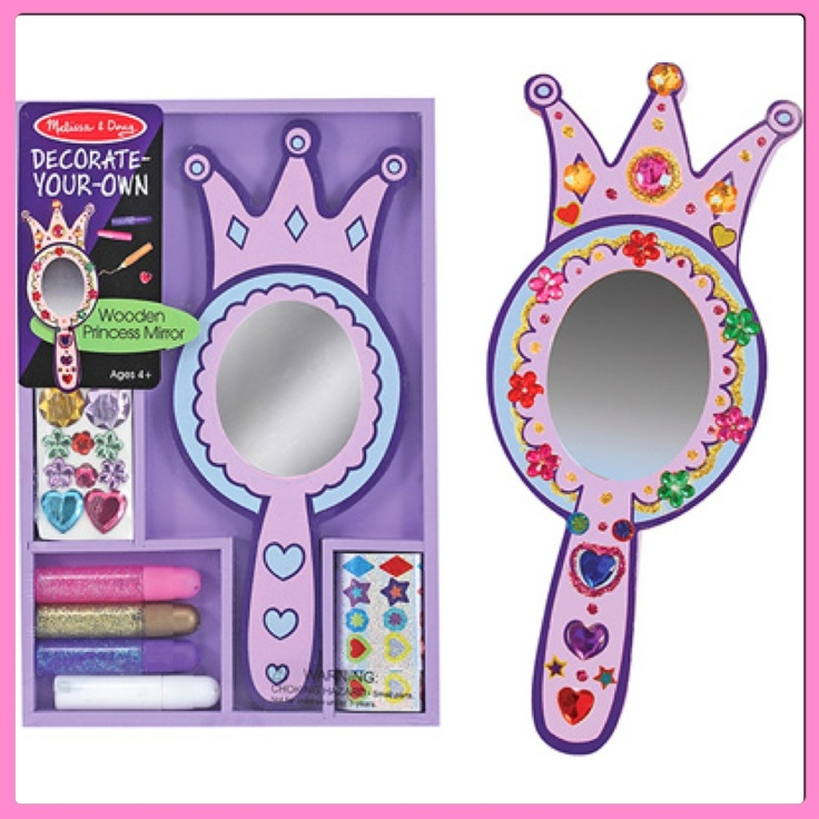 Decorate Your Own Wooden Princess Mirror