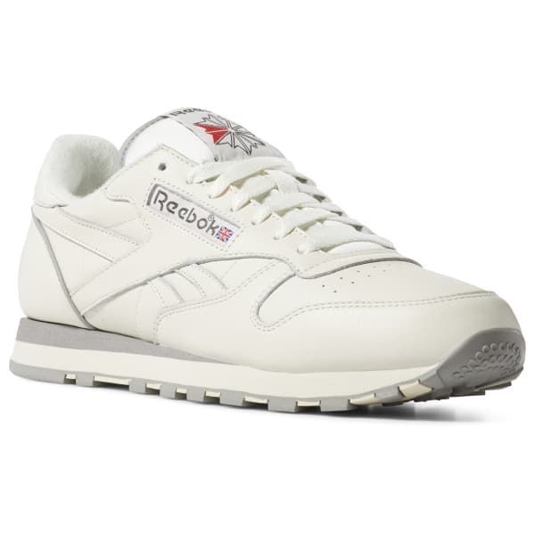 b48afb44101b5 Reebok Shoes Unisex Classic Leather 1983 TV in White Grey Size M 3.5 ...