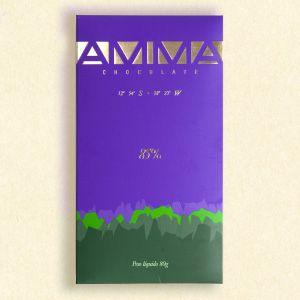 16. Fire plader AMMA økologisk mørk chokolade 60%, 75%, 85% og 100%. Fra chokoladehimlen.dk.