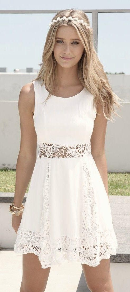 1000  ideas about White Beach Dresses on Pinterest  Beach dresses ...
