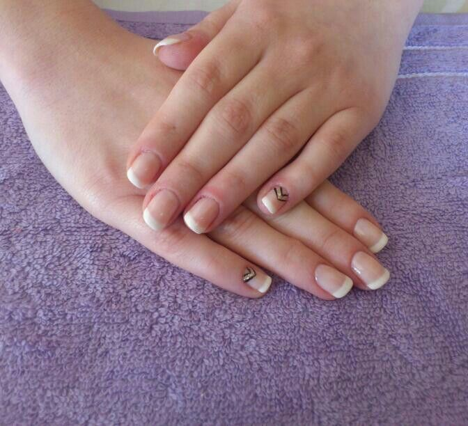 French manicure orly gel polish!!!