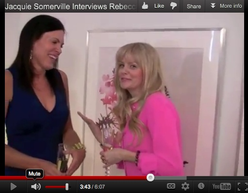 Jacquie interviewing Rebecca!