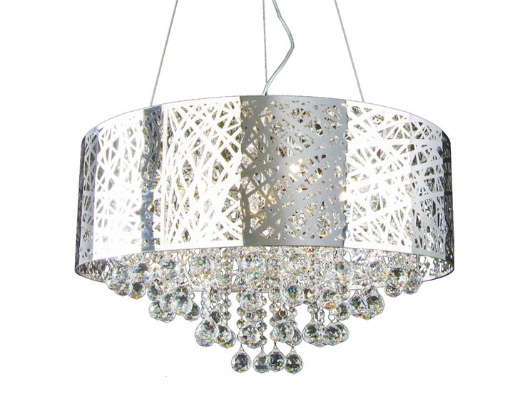 If you are a fan of #beautiful #crystals but not the #classic look, this #modern twist on the classic crystal #chandelier fixture is for you! #lights #lighting #homedecor
