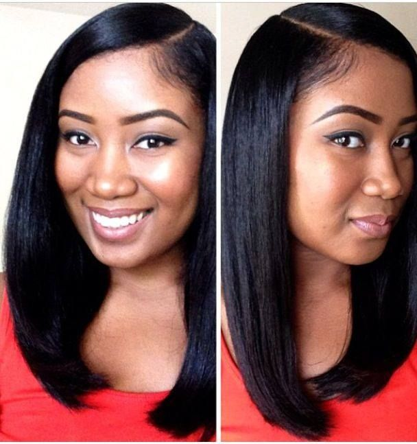 http://www.thehairports.com - Look how sleek and shiny this happy client's hair is! Not a strand out of place! Better known as NYC - The Empire Straight – Sleek, smooth, straight!