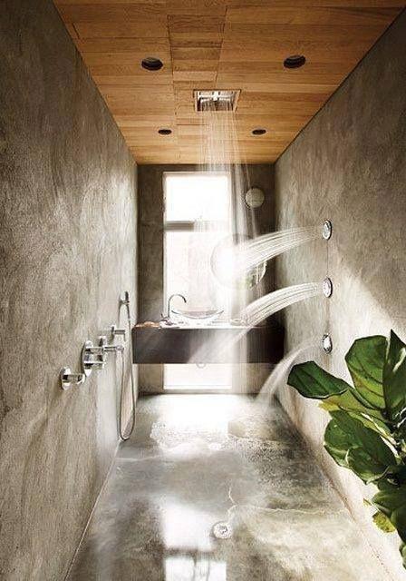 Simply Amazing Shower! [ Wainscotingamerica.com ] #Bathrooms #wainscoting #design