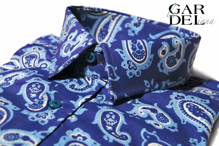La Gardeliana limited edition man shirts ☆ AEGEAN PAISLEY ☆ www.gardeliana.com  Facebook @https://www.facebook.com/lagardeliana  *** For some time now, men have made their case—quite literally—for a wardrobe nobody can forget about. La Gardeliana's latest collection fits.