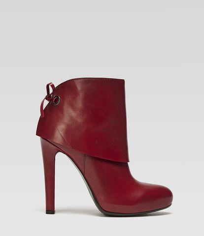 rote High Heel Stiefelette Sofia | PoiLei Damenschuhe
