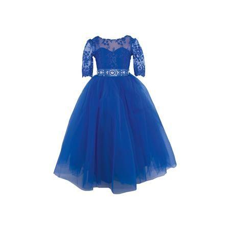 """Престиж Платье нарядное Престиж  — 5419р. ---------------------- Платье для девочки Престиж.  Характеристики:  • пышный силуэт • рукав три четверти • цвет: синий • состав: 100% полиэстер  Нарядное платье для девочки Престиж прекрасно подойдет для любого торжества. Оно имеет пышный силуэт, рукава """"три четверти"""". Рукава и верх платья полупрозрачные, украшены вышивкой. Лиф также украшен вышивкой. Необычный поясок идеально дополнит нежный образ юной леди.  Платье регулируется шнуровкой сзади, от…"""