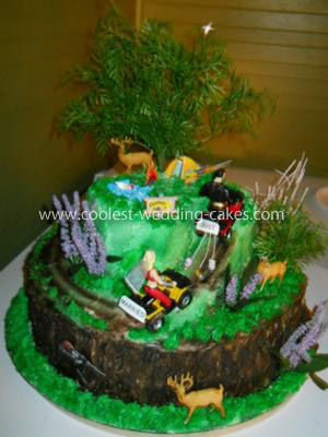 Homemade Redneck Wedding Cake: I had a young couple come to me and ask me if I could make a unusual wedding cake for them. They said they didn't want a traditional wedding cake and the
