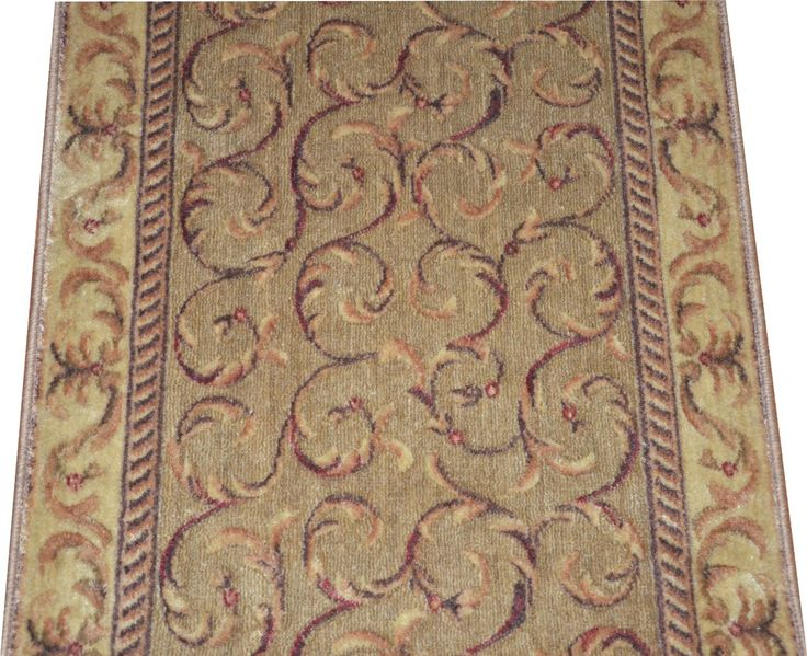 Dean Meadow Scrollwork Carpet Rug Hallway Stair Runner   Purchase By The  Linear Foot