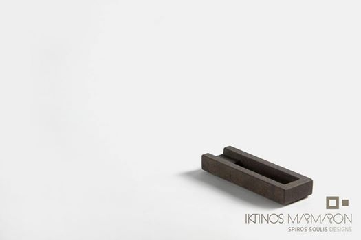 Single Cigar Asthray made out of Wenge Marble, designed by Spiros Soulis for Iktinos Marmaron.