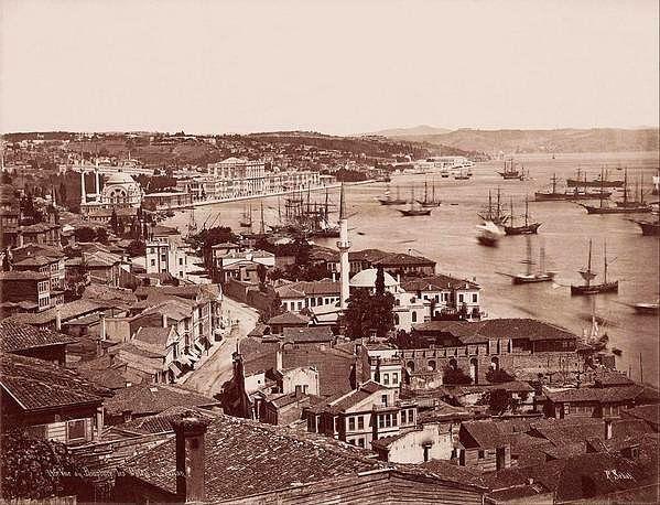 Fındıklı, Dolmabahçe ve Boğaziçi'ne bakış (1870'li yıllar)
