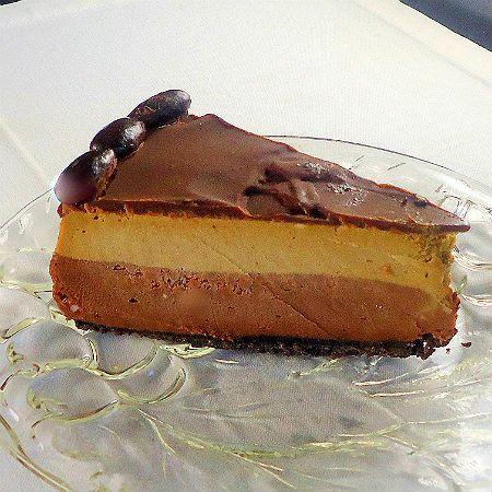 One Perfect Bite: Layered Mocha Cheesecake