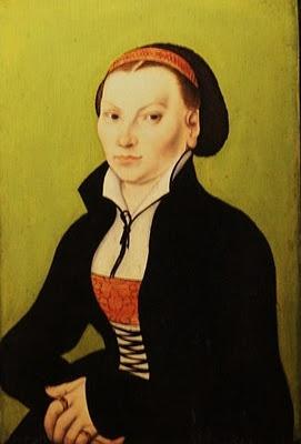 1527 Lucas Cranach the Elder, Catharina von Bora wife of Martin Luther