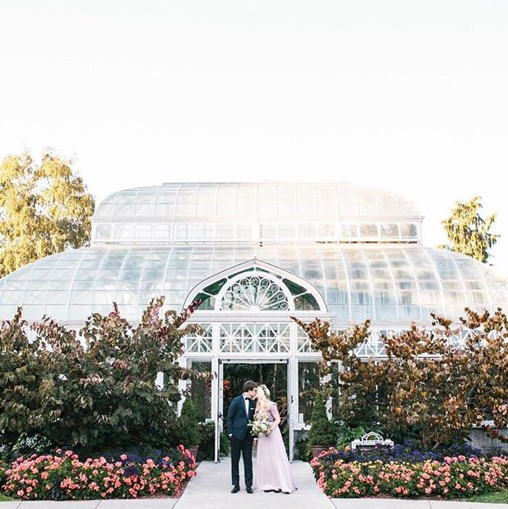 Loving this intimate greenhouse wedding in Seattle