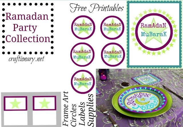 Ramadan iftar party collection with free printables #Ramadan #Eid