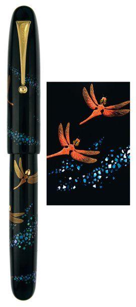 """""""Libellules"""" Magnifique #plume de collection, signé Yasunori Sakamoto. Ce #stylo en laque Urushi avec la technique ancestrale du Maki-E, a été produit en faible quantité dans le début des années 1990. C'est aujourd'hui une pièce rare recherchée par les collectionneurs du monde entier. Vendu aux #encheres le 01/03/11 par Artcurial"""