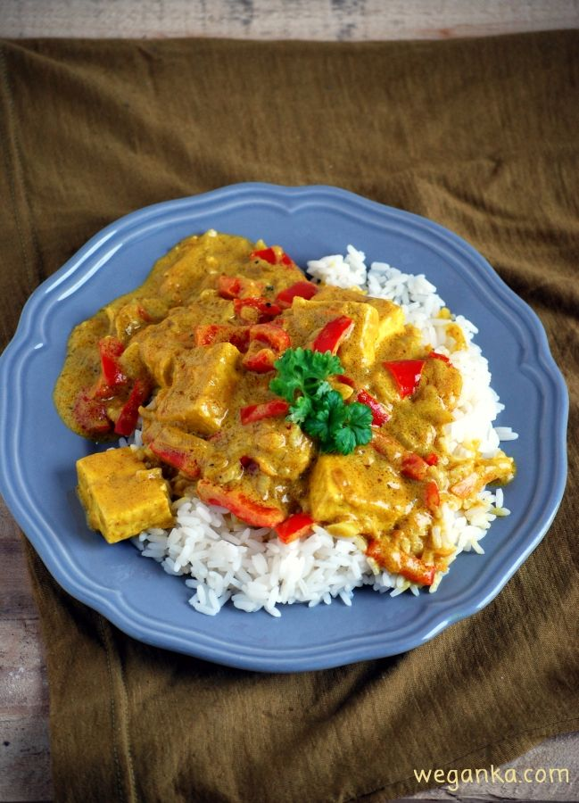 Tofu w sosie curry