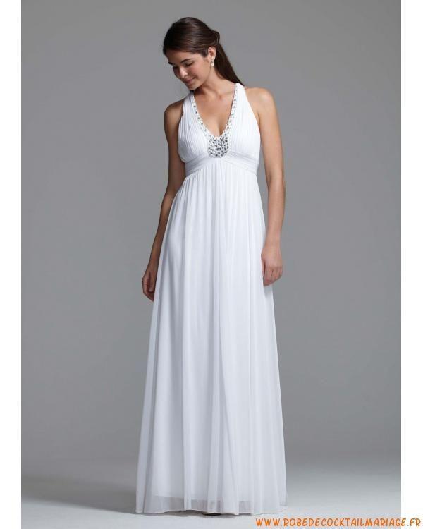 Robe longue blanche mariage