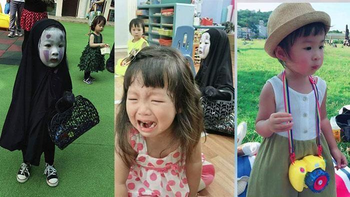 Kenalan Yuk Sama Momo, Gadis Kecil Asal Taiwan yang Viral Karena Dandan Ala No Face Saat Halloween