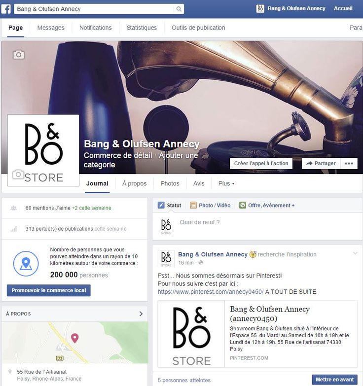 Suivez l'Actualité B&O sur notre  Page Facebook  Bang & Olufsen Annecy