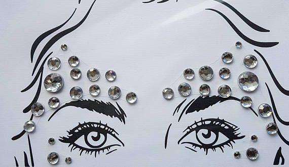 Clarissa  Floating gem Body jewels diamond sparkle gem