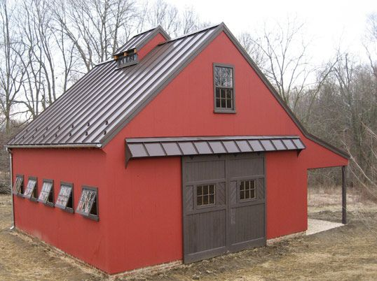 Way too small but more modern with windows and metal roof for Metal barn doors